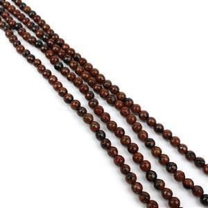360cts Brown Obsidian Faceted Rounds Approx 6mm, 60