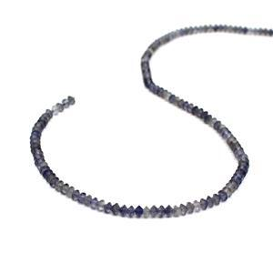 20cts Iolite Faceted Saucers Approx 4x2mm, 38cm Strand