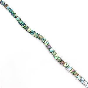 Abalone Flat Squares Approx 8mm, 38cm strand