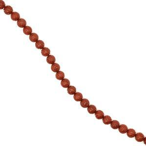 250cts Red Jasper Carved Rose Flower Rounds Approx 10mm, 38cm strand