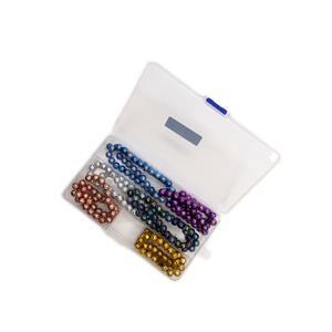 975cts Multi Lava Plain Rounds Approx 8mm, 38cm Strands Box (Set of 6)