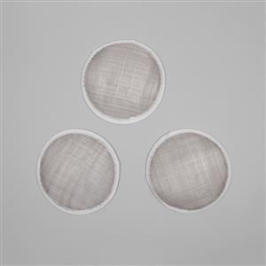 Cambric Fascinator Bases Silver Round - 13.5cm (3pcs/pk)