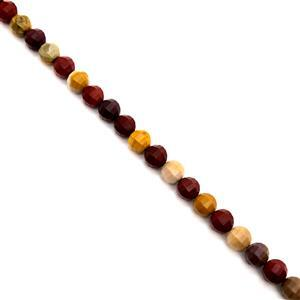 230cts Mookite Faceted Lantern Beads Approx 9mm, 38cm Strand