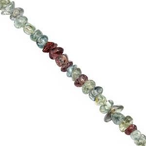 35cts Songea Sapphire Smooth Chips Approx 1.5x1 to 2.5x3mm, 36cm Strand