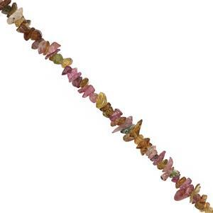 240cts Multi-Colour Tourmaline Nugget Approx 2x1 to 8x2mm, 100 inch Strand