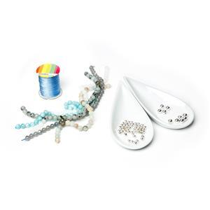Storm Cloud Knotted Gemstone Bracelet Kit