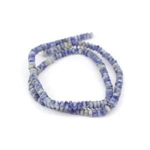 40cts Bolivian Sodalite Plain Rondelles Approx 4x2mm, 38cm Strand
