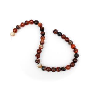 350cts Dyed Multi-Colour Stripe Agate Plain Rounds Approx 12mm, 38cm Strand