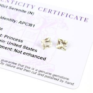 1.9cts Serenite Square Princess 6.00x6.00mm (Pack of 2)
