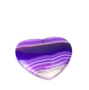 50cts Purple Stripe Agate Heart Pendant Approx 40mm,1pk