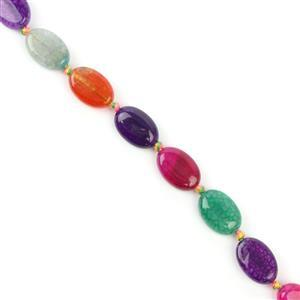 120cts Multi Colour  Agate Ovals Approx  14x10mm 38cm
