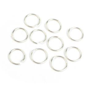 935 Argentium Finest Silver Jump Rings Approx 7mm ID x 0.8mm (10pcs)