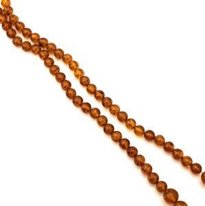 Baltic Cognac Amber Graduated Beads, Approx 6-10mm 38cm