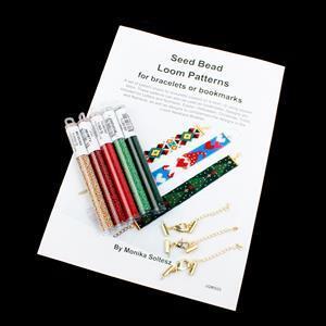 Monika's Christmas Loom; 11/0 & Clasps with Loom Booklet by Monika Soltesz
