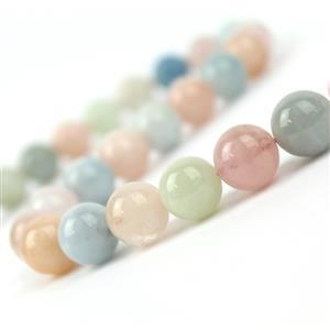 400cts Multi-Colour Beryl Plain Rounds Approx 12mm, 38cm