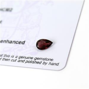 0.7cts Rajasthan Garnet 8x5mm Pear  (N)
