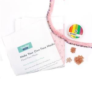 Make Your Own Floral Face Masks with Gemstone Chains