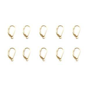 925 Gold Plated Sterling Silver Leverback Earrings Approx 16mm (5 Pairs)