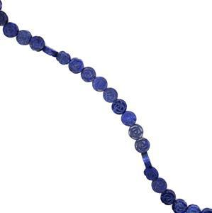 350cts Dyed Lapis Lazuli Carving Rose Flower Approx 16mm, 38cm strand