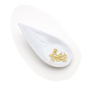 Gold Plated 925 Sterling Silver Bolt Ring Clasp - 6mm (10pcs/pk)