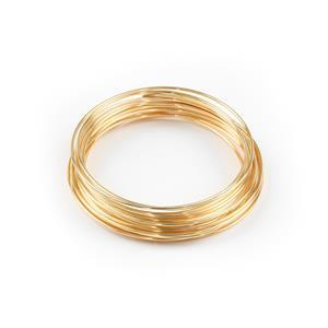 Champagne Gold Coloured Silver Plated Copper Wire - 0.6mm (10m)