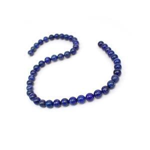 200cts Natural Colour Lapis Lazuli Plain Rounds Approx 8-9mm, 38cm Strand