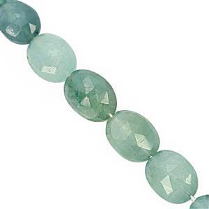 35cts Grandidierite Graduated Faceted Oval Approx 7x6 to 10x8mm, 15cm Strand