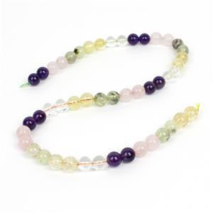 175cts Multi Stone Plain Rounds Approx 8mm, 38cm Strand