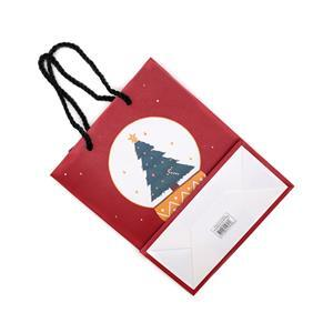 Red Snowglobe Christmas Gift Bag Approx 19x25x9cm (10pcs)
