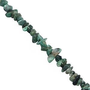 130cts Emerald Bead Nuggets Approx 3x2 to 10x4mm, 80cm Strand