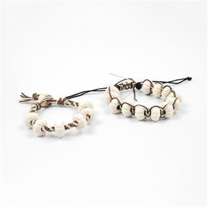 Friendship Bracelet Kit Inc Pack of 4 x 9m Hemp Cord in Natural Colors 1mm