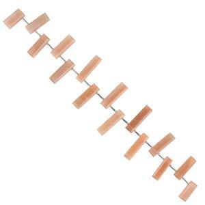 122cts Peach Moonstone Graduated Faceted Bars Approx 14x6 to 28x6mm, 18cm Strand.