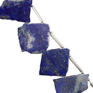 44cts Lapis Lazuli Plain Flat Fancy Shapes Approx 14x11.6mm to 27x18mm 11cm Strand