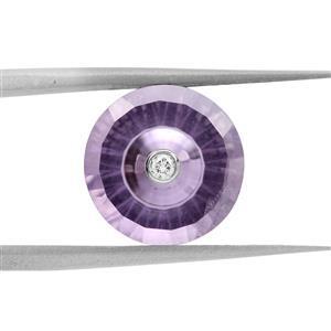 3cts TorusRing Cut Amethyst 11x11mm Round  (N)