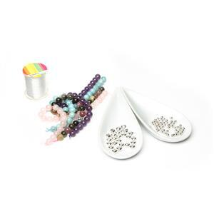 Wildflower Stretch Gemstone Bracelet Kit