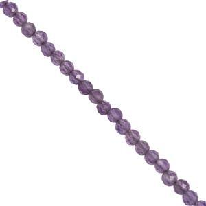 9ct Amethyst Faceted Rounds Approx 2mm, 30cm Strand