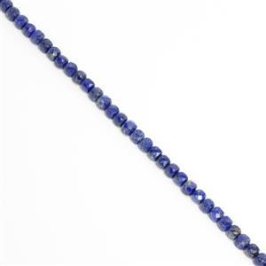 25cts Lapis Faceted Cube Approx 4mm, 18cm strand