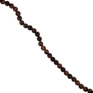 170cts Red Tiger Eye Matte Rounds Approx 8mm, 38cm strand