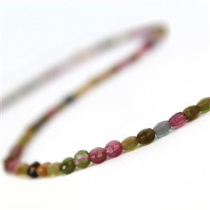 25cts Tourmaline Faceted Coins Approx 4mm, 38cm  Strand
