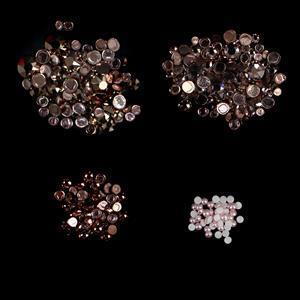 Ciao Bella Inc Swarovski Vintage Rose XIRIUS Flat Hot Fix Mixed Bag 100pk & More