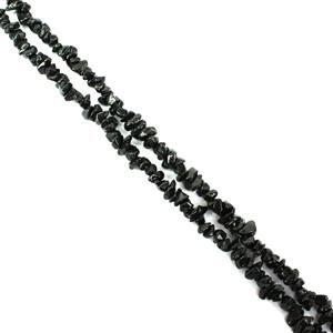 400cts Black Spinel Small Chips Approx 3x2 - 6x4mm, 60