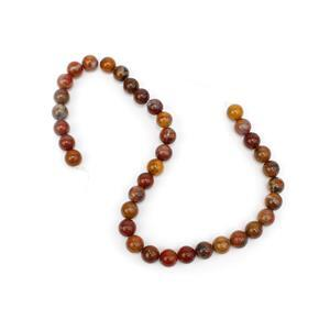 250cts Chinese Multi-Colour Agate Plain Rounds Approx 10mm, 38cm Strand