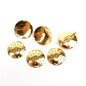 Gold Plated Base Metal Sieve Back Brooch Pins, 20mm (3pk)