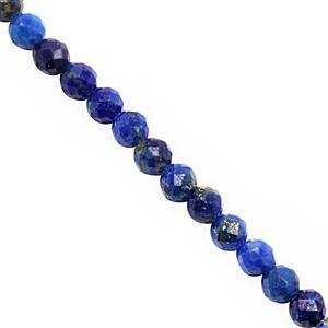 10cts Lapis Lazuli Micro Faceted Rounds Approx 2mm, 38cm Strand.