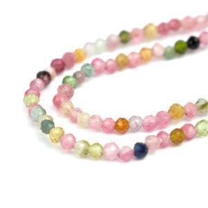 5cts Multi Tourmaline Faceted Rounds Approx 1.5mm, 31cm