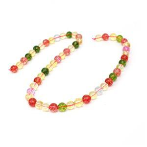 160cts Dyed Multi-Colour Quartz Plain Rounds Approx 8mm, 38cm strand