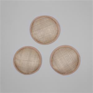 Cambric Fascinator Bases Oatmeal Round - 13.5cm (3pcs/pk)
