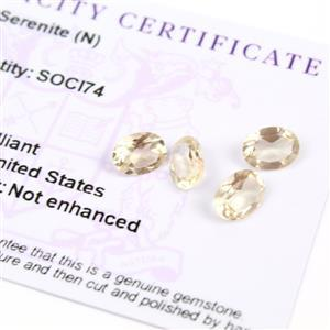 4.1cts Serenite Oval Brilliant 8.00x6.00mm (Pack of 4)