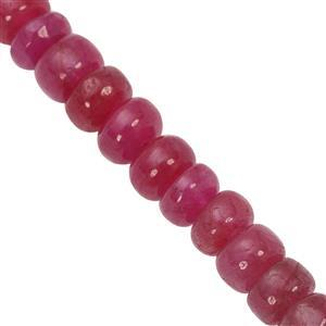 85cts Red Beryl Graduated Smooth Rondelles Approx 6x4 to 10x6.50mm, 15cm Strand