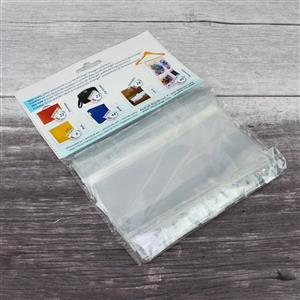 Kit Xchange Extra Large Ziptop Craft Bags Grey Trim 15pcs